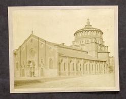 Fotografia All'albumina - Basilica Santa Maria Delle Grazie - Milano - 1870 Ca. - Foto