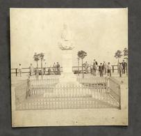 Fotografia D'epoca - Monumento A Giuseppe Gabetti - La Morra - 1899 - Foto