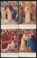 CHEMIN DE CROIX-VIA CRUCIS- KRUISWEG  14 KAARTEN  4 SCANS - Christianisme