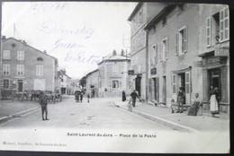 39 Saint LAURENT Du JURA Place De La Poste 1908  Tabac Carte Rare - Autres Communes