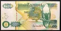 ZAMBIA 20 KWACHA 1992 LOTTO 2574 - Zambie