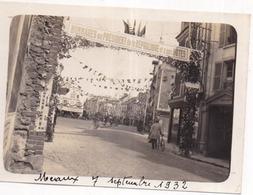 77 MEAUX - Photo Originale - Hommages Au Président De La République... 7 Septembre 1932 - Place Du Marché (pavoisée) - Meaux
