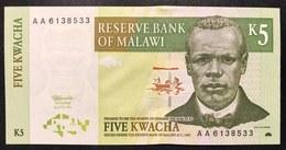 MALAWI 5 Kwacha 1997 About UNC Q.fds Serie AA   LOTTO 2576 - Malawi