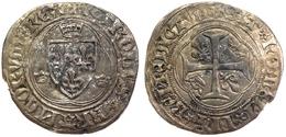 #14_FRANCE MÉDIÉVALE - Charles VII [1422-1461] - Blanc à La Couronne (4e émission) - Rouen (2,31 G ; Dup. 519C) . - 987-1789 Monnaies Royales