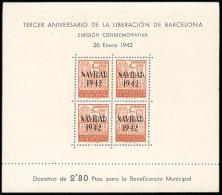 Barcelona 40/41 (*) HB.Liberación. 1942. Sin Goma - Barcelona