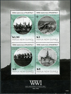 Papua New Guinea. 2014. 100th Anniversary Of Start Of World War I (MNH OG) M/S - Papua New Guinea
