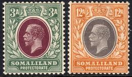 Somaliland Prot. 1912 3 A. & 12 A. SG64/68 - Mint Previously Hinged - Somalilandia (Protectorado ...-1959)