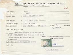 Indonesia. 1981. Ricevuta Com Marca Da Bollo - Indonesia