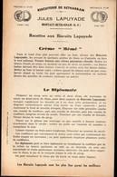 Montaut-Bétharram (64 Pyrénées Atlantiques) Recettes Avec Biscuits LAPUYADE   (PPP10938) - Publicités