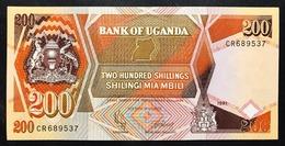Uganda 200 Shillings 1991 About Unc Q.fds  LOTTO 2579 - Uganda