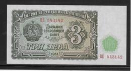 Bulgarie - 3 Leva - Pick N°81 - NEUF - Bulgaria