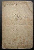 1781 Crespy ( Crépy En Valois) Ferme De Mermont, Devis Des Travaux à Faire (16 Pages Grand Format 7 écrites) - Manuscripts