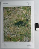 GROTE-LUCHT-FOTO HARELBEKE STASEGEM DEERLIJK KUURNE ZWEVEGEM ORTHOFOTOPLAN KAART 67x48cm PHOTO AERIENNE LUCHTFOTO R750 - Harelbeke