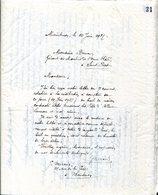 Maintenon Eure-et-Loir 28 Cahier  Copies De Lettres Manuscrites 1937 à 1947 Notaire Notariat Histoire Locale Guerre - Unclassified