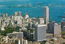 1 AK Hongkong * Bird-eye View Of Whole Of Hong Kong's Central District - Luftbildaufnahme * - Chine (Hong Kong)