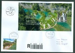Croatia 2019 Booklet Block Plitvice Summer Water Waterfall Lake Wood National Park Nature Preserve Letter Japan China - Croazia