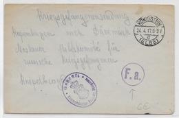 KRIEGSGEFANFENENPOST - 1917 - ENVELOPPE De OFLAG KÖNIGSTEIN ELBE => BUREAU AIDE RUSSE MOSCOVITE à COPENHAGUE (DANEMARK) - Covers & Documents