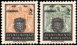 Barcelona 60/61sh * Escudo 1944. Charnela - Barcelona