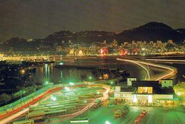 1 AK Hongkong * Night Scene Of Hong Kong Island With Kowloon's Jordan Road Vehicular Ferry Pier In Foreground * - China (Hongkong)