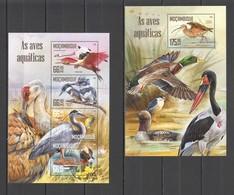 ST2130 2016 MOZAMBIQUE MOCAMBIQUE FAUNA WATER BIRDS 1KB+1BL MNH - Vögel