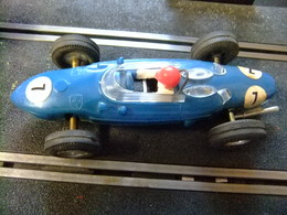 SCALEXTRIC Triang FERRARI V6 Azul Nº 7 Guia Fija Made In Spain - Circuitos Automóviles