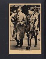Dt. Reich PK Adolf Hitler Und Mussolini  1937 Gelaufen Sonderstempel - Personaggi Storici