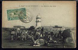 """Somalie - CPA """"Souvenir De Djibouti - Le Marché Des Bois"""" Timbre N° 70 - Cachet Djibouti 19 Avril 1916 - B/TB - - Somalia"""