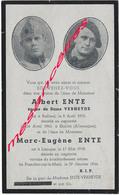 Guerre 1940-Albert Né à Bailleul Et Marc Eugène ENTE Morts En Captivité En 1943 Et 1944-Gorlitz Et Francfort - Décès