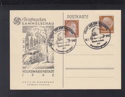 Dt. Reich PK Volkswagen Stadt 1942 Sonderstempel - Storia Postale