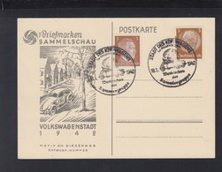 Dt. Reich PK Volkswagen Stadt 1942 Sonderstempel - Germania