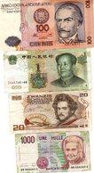 Lot De 4 Billets - 1000 Lire Italie - Zwanzig Schilling Autriche - 1 Yuan Chine - 100 Intis Pérou - - Coins & Banknotes