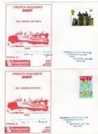 Cartes Anniversaire Du 500 ème Voyage De L'hovercfat Jean Bertin ( RARE Car Cartes Nons Distribuées ) - Stamps