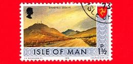 Isola Di MAN - Usato - 1973 - Paesaggi - Veduta Del Monte Snaefell - 1 ½ P - Isola Di Man