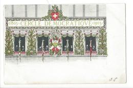 23015 -  Lausanne Centenaire Vaudois Cercle Démocratique 1803-1903 Cachet 1904 - VD Vaud