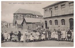 SAINT ST SAULVE (Nord 59) - LA MAIRIE ET LE COUVENT AVEC SUPERBE VUE ANIMÉE NOMBREUX ENFANTS (ED. DELSART) - Other Municipalities