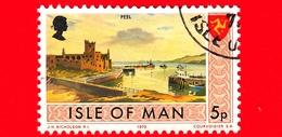 Isola Di MAN - Usato - 1973 - Paesaggi - Veduta Di Peel - 5 P - Isola Di Man