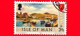 Isola Di MAN - Usato - 1973 - Paesaggi - Veduta Di Port St Mary - 3 ½ P - Isola Di Man