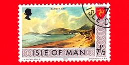 Isola Di MAN - Usato - 1973 - Paesaggi - Veduta Di Ramsey Bay - 7 ½ P - Isola Di Man