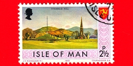Isola Di MAN - Usato - 1973 - Paesaggi - Veduta Di Tynwald Hill - 2 ½ P - Isola Di Man