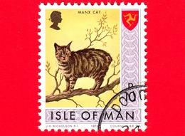 Isola Di MAN - Usato - 1973 - Paesaggi - Animali - Gatti - Manx Cat (Felis Silvestris Catus) - 10 P - Isola Di Man