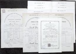 Lotto Documentazione Maestra Elementare Scuola Magistrale Benevento 1877 - 1884 - Libri, Riviste, Fumetti