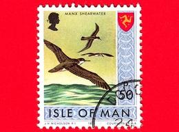 Isola Di MAN - Usato - 1973 - Paesaggi - Animali - Uccelli - Manx Shearwater (Puffinus Puffinus) - 50 P - Isola Di Man