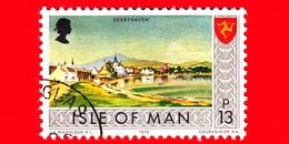 Isola Di MAN - Usato - 1975 - Paesaggi - Veduta Di Derbyhaven - 13 P - Isola Di Man
