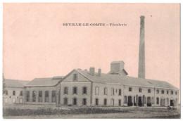 BEVILLE-LE-COMTE (Eure Et Loir 28) - VUE SUR LA FECULERIE USINE COMMERCE CHEMINÉE INDUSTRIE - France
