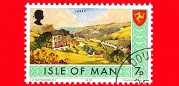 Isola Di MAN - Usato - 1975 - Paesaggi - Veduta Di Laxey - 7 P - Isola Di Man