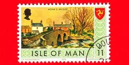 Isola Di MAN - Usato - 1975 - Paesaggi - Veduta Di Monk's Bridge - 11 P - Isola Di Man