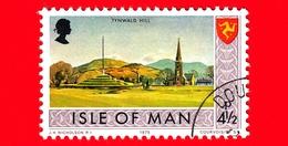 Isola Di MAN - Usato - 1975 - Paesaggi - Veduta Di Tynwald Hill - 4 ½ P - Isola Di Man