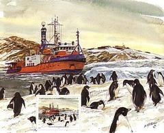 Polaire Antarctique - TAAF 2001 - Feuillet Du Carnet De Voyage 320 ** : L'ASTROLABE AU REPOS - Manchots ADELIE - Nuovi