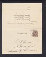 Dt. Reich Drucksache Mit Antwort 1900 - Briefe U. Dokumente