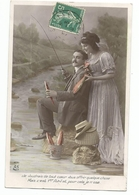 Carte Postale Ancienne Fantaisie - 1er Avril - Poisson -couple - Erster April